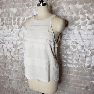 IRO Cream Cotton/Silk Blouse Size 1